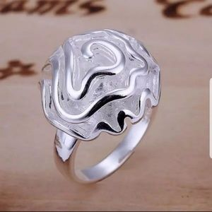 Jewelry - 925 Silver Rose Flower Statement Ring